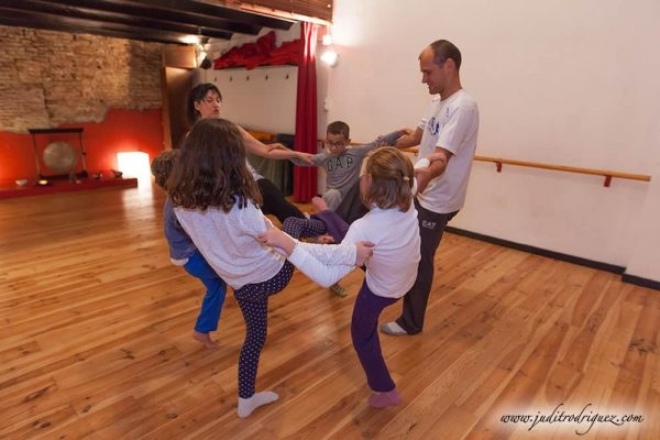 yoga en burbuja